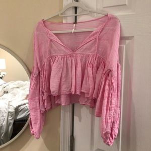 NWOT Free People pink top